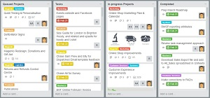 Trello Boards, Lists and Cards