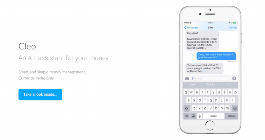 Using Cleo, the chatbot that helps you understand your spending