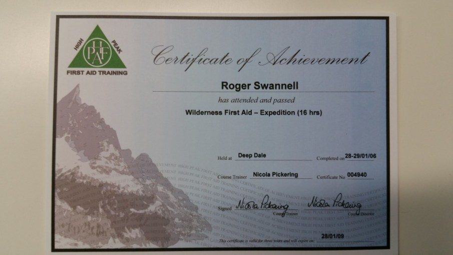 Wilderness First Aid - Expedition Training Certificate