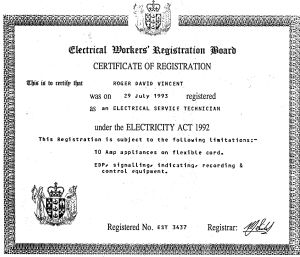Electrical Trade Cert