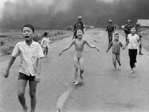 Children burnt by US napalm in Vietnam war