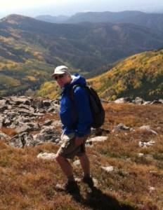 Roger Williams hiking near Santa Fe