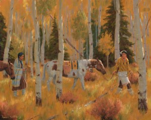 Western art, oil painting, pueblo cultures, RogerWilliams Artis, Santa Fe nm. Fine art