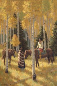 Oil painting, western art, Roger Williams artist, southwest, Santa Fe NM