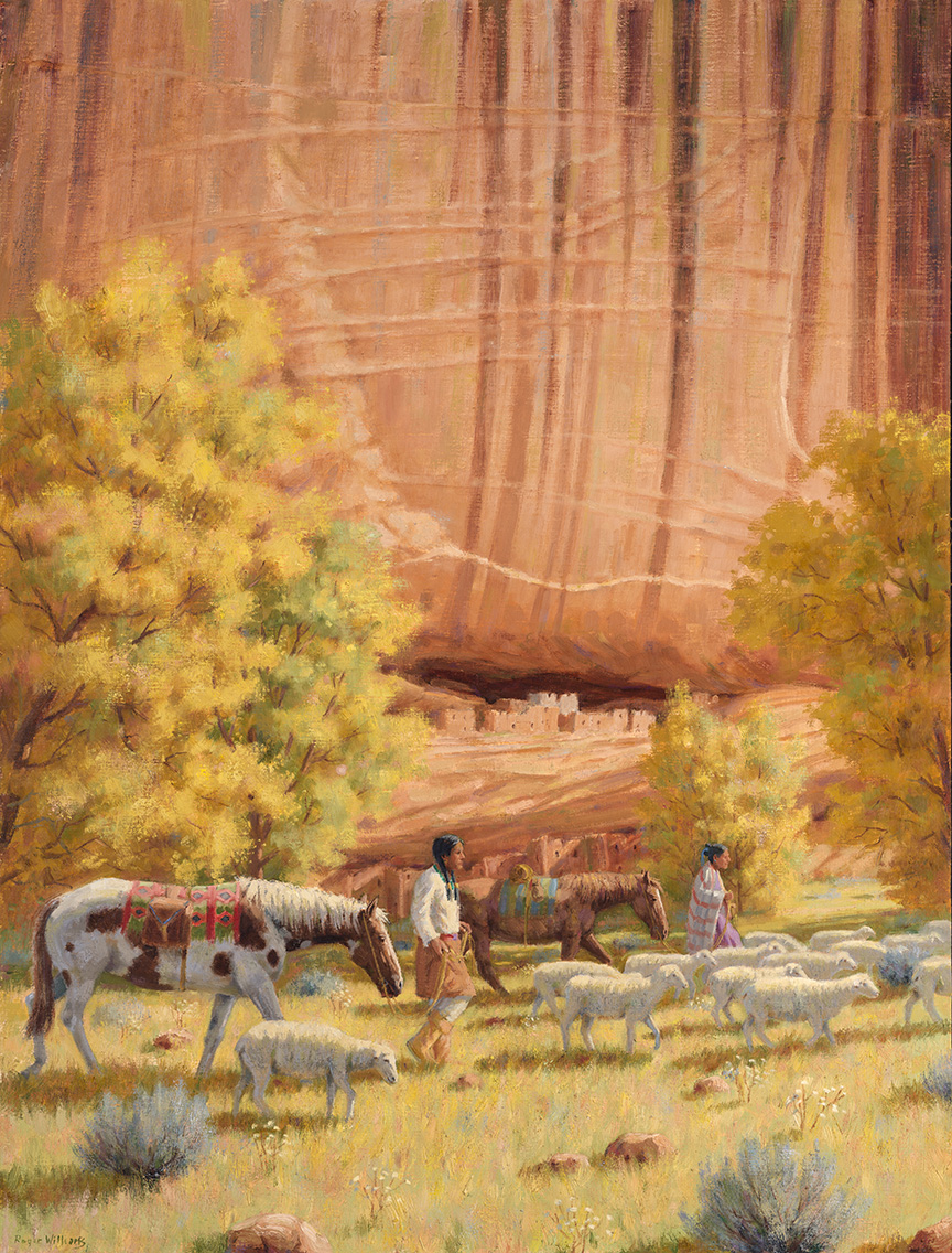 Canyon de Chelly<br /> 40 x 30 oil on linen