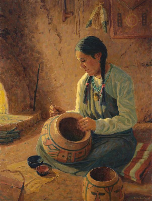 hopi western art art fine art oil painting figurative pueblo art Roger Williams