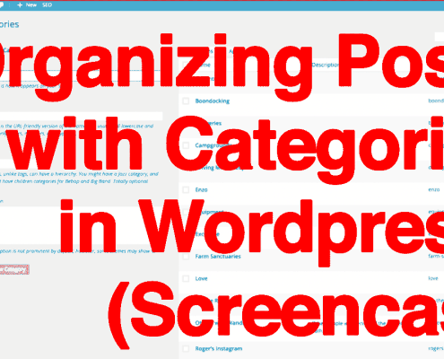 Organizing Wordpress Posts with Categories