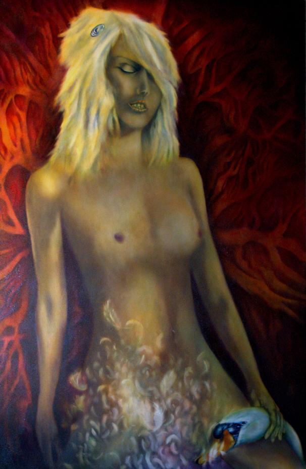 Annunciation, Leda, Zeus, mythology, Greece, Greek, Iliad, Odyssey, Homer, symbolic art, symbolic painting, art symbolism,