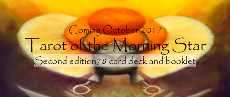 Divination. Tarot of the Morning Star second edition divination deck. Created by Minneapolis artist author Roger Williamson. This second edition is a 78 card deck.