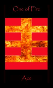 tarot ace fire