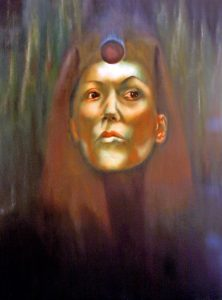 Dark Sister of the Black Sun Cult. Featured as Queen of Earth in Tarot of the Morning Star