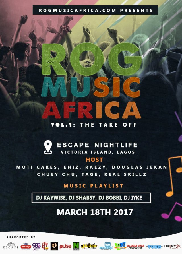 JESSE JAGZ HEADLINES ROG MUSIC AFRICA VOL 1: THE TAKE OFF - ROGMA