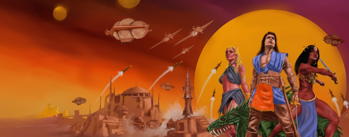 M.D. Jackson's cover art for THE LOST EMPIRE OF SOL