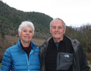 The Warricks at their southern Oregon vineyard