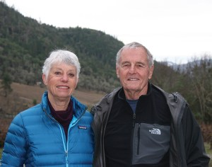 The Warricks at their southern Oregon vineyard