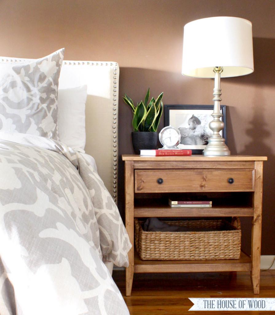 diy bedside table plans