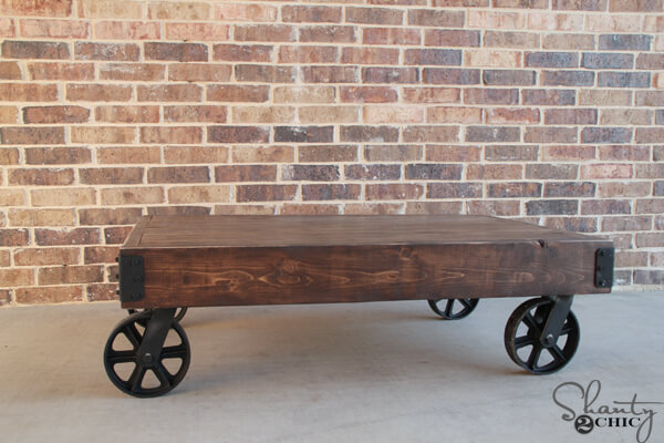 Industrial Cart Coffee Table Free DIY Plans Rogue Engineer