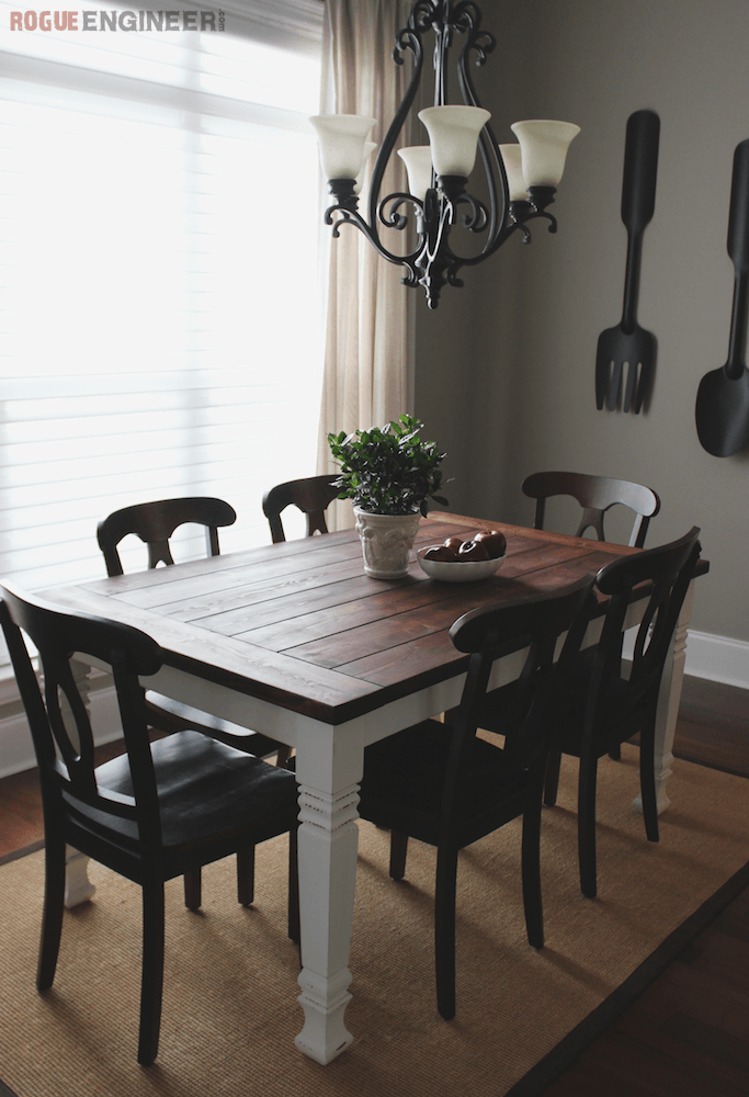 DIY Farmhouse Table | Free Plans | Rogue Engineer