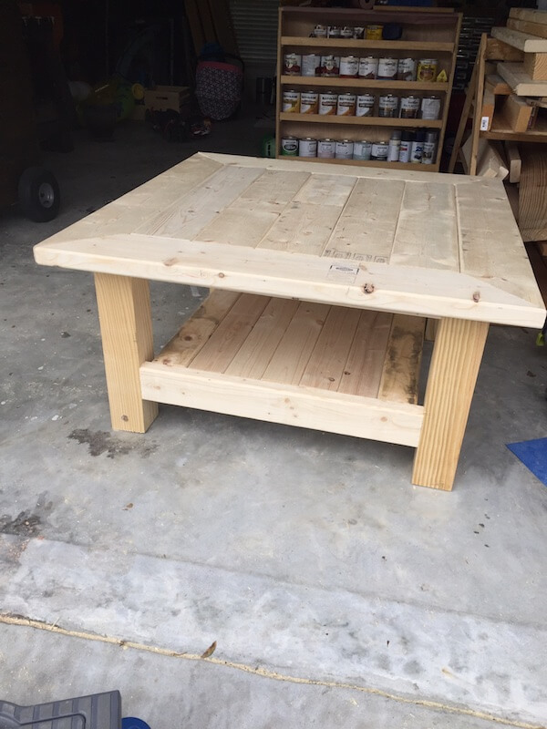 Square Coffee Table w/ Planked Top { Free DIY Plans } on Coffee Table Plans  id=96969