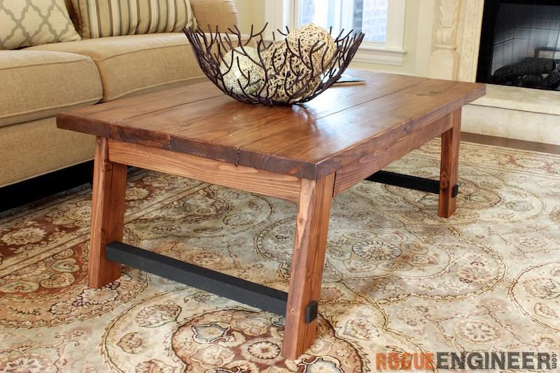 Angled Leg Coffee Table Free DIY Plans Rogue Engineer