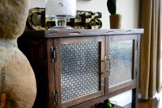 DIY Bar Cabinet Plans - Rogue Engineer 1