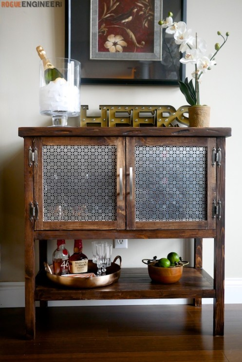 DIY Bar Cabinet Plans - Rogue Engineer 2