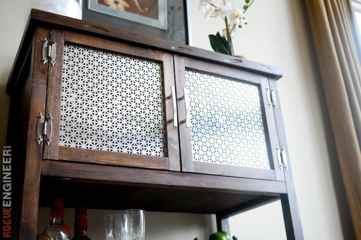 DIY Bar Cabinet Plans - Rogue Engineer 4