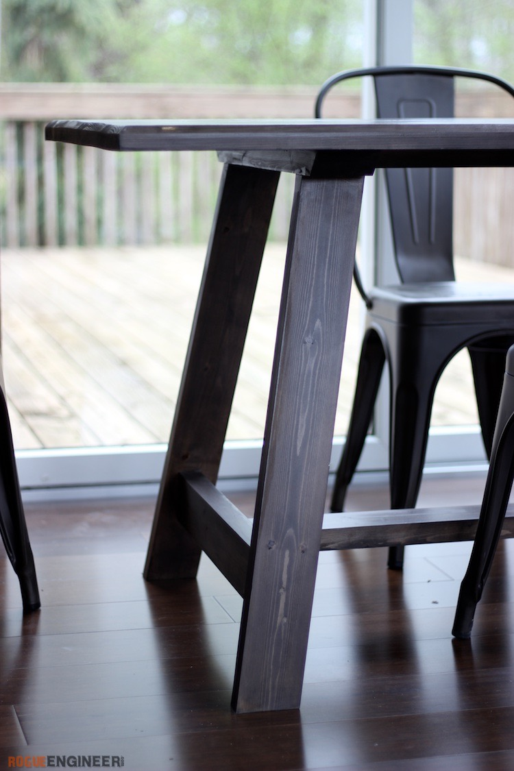 Compound Leg DIY Dining Table Plans   Rogue Engineer 5