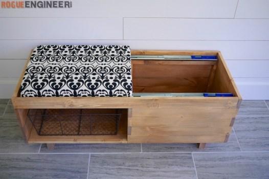 DIY Storage Bench Plans - Rogue Engineer 4