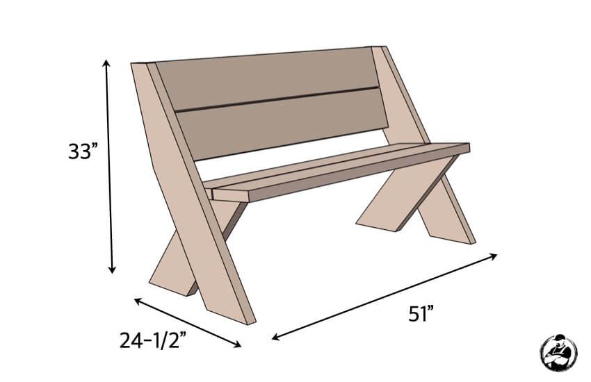 diy outdoor bench in 30 mins w only 3