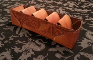 Leather Card Sorter