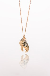 gold lobster claw necklace