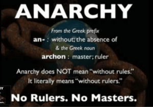 ANARCHY DEFINED. (Slide by Mark Passio)