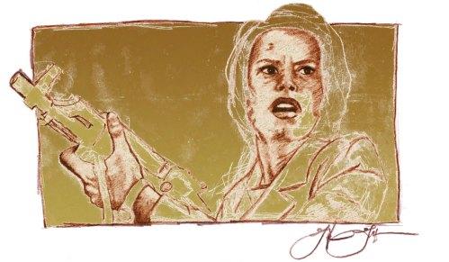 Movie Still Sketch: Illustration