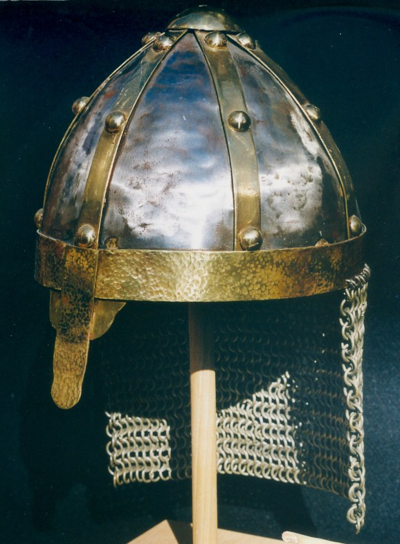 Medieval Cavalry Helmet hand forged out of 18 gage steel.
