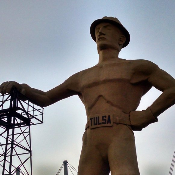 Roguetrippers took a Route 66 Roadtrip to visit the Golden Driller in Oklahoma.