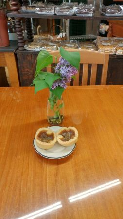 On a roadtrip to Bancroft, Roguetrippers stopped at Hidden Goldmine bakery in Madoc, Ontario to try their butter tart options