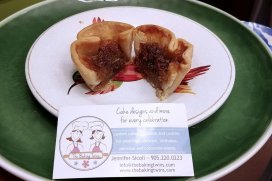 The Baking Twins butter tarts from the Great Canadian Butter Tart Festival that the Roguetrippers visited in Paris in October 2018.