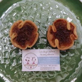 Butter tarts from the Baking Twins, purchased by RogueTrippers at the Great Canadian Butter Tart Festival in Paris, Ontario.