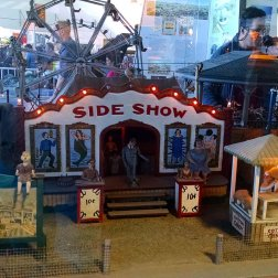 Side Show circus diorama at Musee Mecanique in San Francisco's Fisherman's Wharf