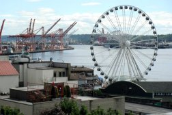 The Seattle Aquarium and a giant Ferris wheel located on the Pier 59 of waterfront were a must for Roguetrippers to visit in May 2015.