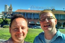 Roguetrippers Nick and Greg visited Ghirardelli Square in July 2016 during a short itinerary to San Francisco.