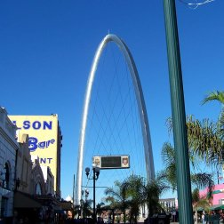 Monumental Arch in the heart of Tijuana can be seen for miles, is a great roadside attraction.