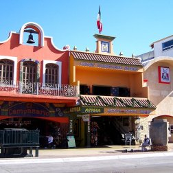 Shops and restaurants in the Avenido Revolucion is popular for people on Day Trips from San Diego