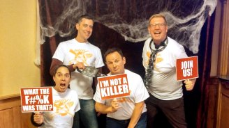 I am not a Killer. Roguetrippers at the Evil Dead the Musical in Concord New Hampshire, in 2017