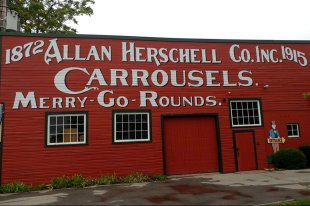 Roguetrippers came to visit Allan Herschell Co Carrousel museum in North Tonawanda