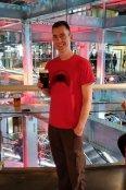 Brad enjoys a pint of Guinness