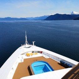 Disney Wonder Ship heading in to Alaska.