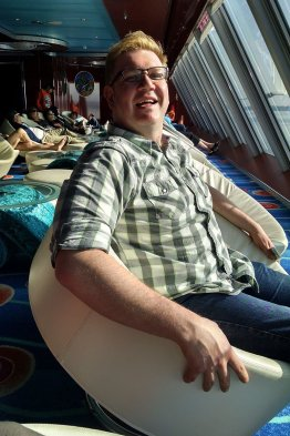 Relaxing-aboard-Cruise-while-at-port