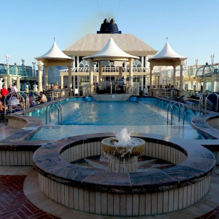 stay aboard and enjoy the pool